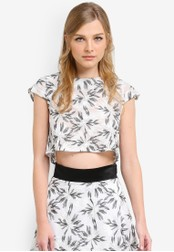 Vesper black and white Daliah Embroidered Crop Top VE733AA0S79IMY_1