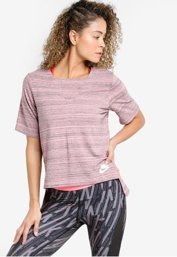 Nike pink and multi Women's Nike Sportswear Advance 15 Top NI126AA54MFHMY_1