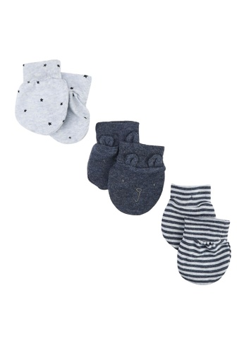 GAP blue Baby First Favorite Print Mittens (3-Pack) D74D3KC2951B07GS_1