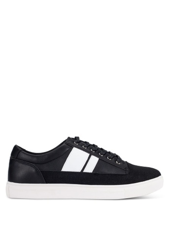 JAXON black Contemporary Mixed Material Sneakers E05D0SH0973EFCGS_1