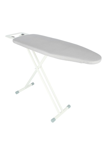 JVD JVD Lifestyle Prestige Iron Board with Premium Board Cover and Iron Rest, White with silver cover 491ADHLA64F196GS_1