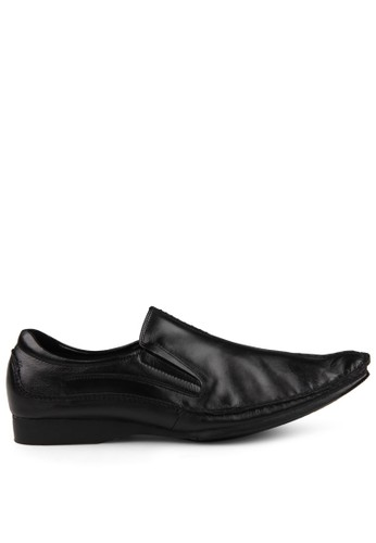 Marelli black Men Carlos Leather Shoes MA036SH50UIRID_1