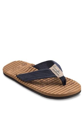 esprit outlet台北撞色寬帶拖鞋, 鞋, 鞋