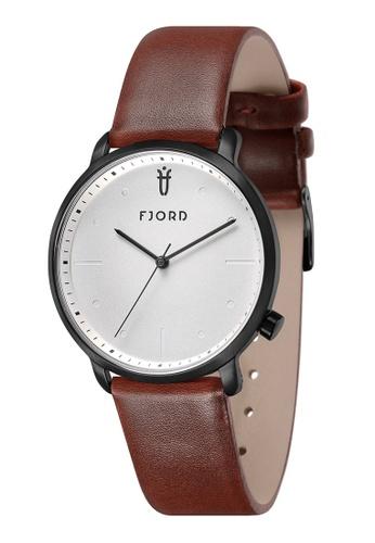 Fjord brown Fjord Men's Genuine Leather Watch - FJ-3031-02 F094EAC0611C2CGS_1