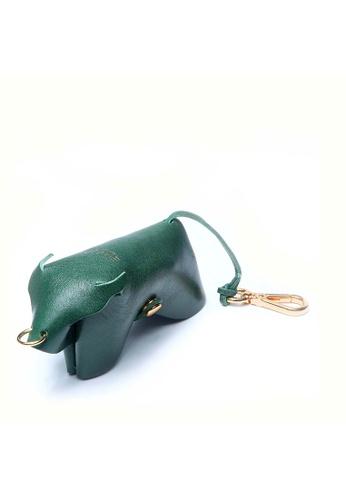Enjoybag green Zodiac`s Cowhide Leather Key Holder EN763AC81VQSHK_1