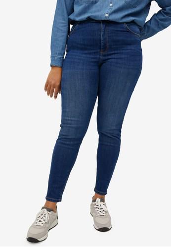 Violeta by MANGO blue Plus Size Super Slim-Fit Lorena Jeans 3E406AA92445ECGS_1