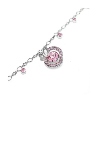 Glamorousky pink Elegant Apple Anklet with Pink Austrian Element Crystals F0E10AC8B02AA0GS_1