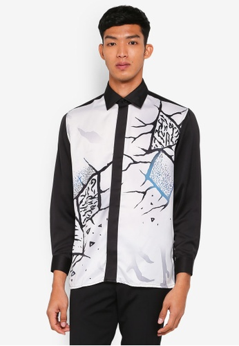 Gene Martino white Batik Art Top 56F91AAF5A08B4GS_1
