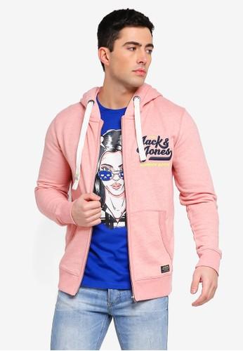 Jack & Jones pink Jorvarcity Zip Through Hoodie E82DAAAE13F068GS_1