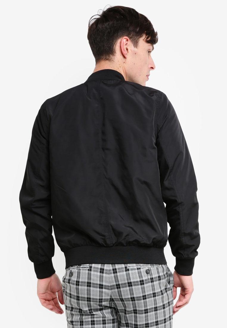 Black Jacket Nylon Black London Menswear Bomber Burton nzzwpC8xrq