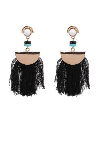 Saturation multi Black Tassel Earrings 0BE32AC6CAEA93GS_1