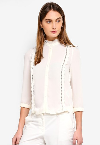 Vero Moda beige Florida Long Sleeve Blouse D65BEAA6615E60GS_1