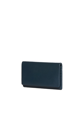 OBX blue OBX Navy Leather Continental wallet EC47DACDCCDE14GS_1