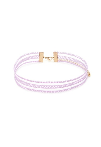 LUCCACAL Lavender Crochet Choker LU294AC31NKYMY_1