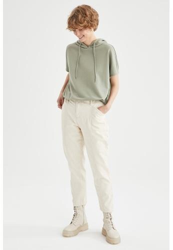 DeFacto green Short Sleeve Hooded T-Shirt 3625FAA3FF97F3GS_1