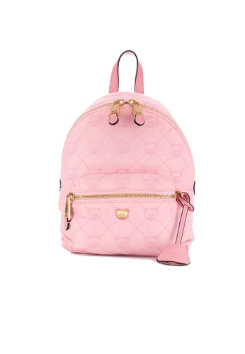 Moschino pink Moschino Teddy Bear Quilted Backpack Bag Pink B7621 FD374AC7330B78GS_1