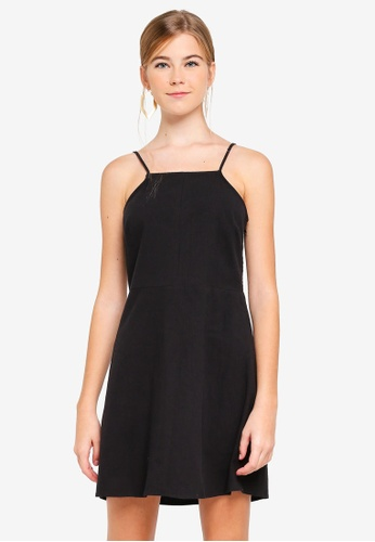 Supre black High Neck Strappy Cami Dress 1A7EEAA8934FC4GS_1