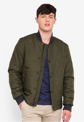 Banana Republic green Quilted Bomber Jacket 474A2AA3FE5352GS_1