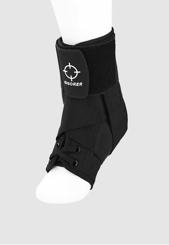 RIGORER black Rigorer Laced Ankle Brace w/ Straps [RA007] D38F9AC897440CGS_1