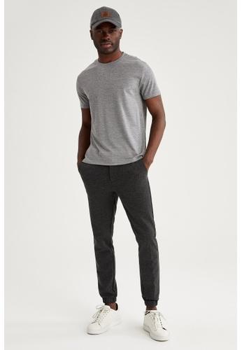 DeFacto grey Man Knitted T-Shirt A6A1EAACC2D227GS_1