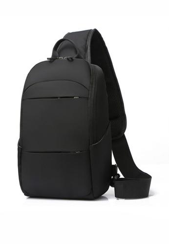 Lara 黑色 男士時尚戶外旅行遠足騎行胸包單肩包 - 黑色 E47DDAC786A5C3GS_1