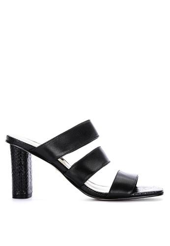 Nine West black Lora Heeled Slides 50921SH8D9551FGS_1