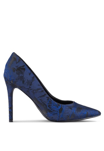 ZALORA navy Fabric High Heels 47BD5ZZ1067FBAGS_1