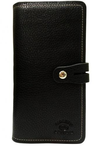Lucky JX black Button Long Wallet 73675ACA8B18FCGS_1