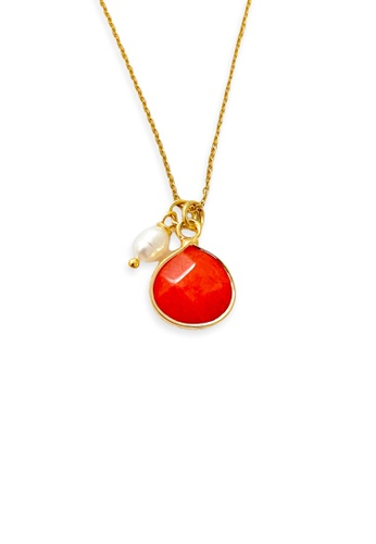 Trinkets for Keeps gold Faceted Agate Stone Necklace B7695ACCA7721FGS_1