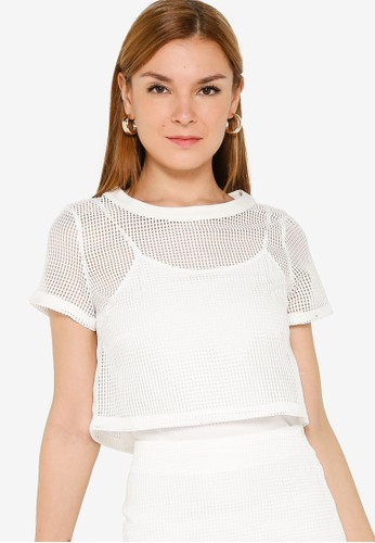 ZALORA OCCASION white Co-Ord Lace Top 919B6AAB56E8FFGS_1