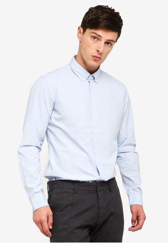 ESPRIT 藍色 長袖襯衫 50711AADACF20DGS_1