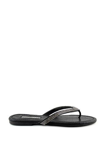 London Rag black Fara Flip Flop Sandals 75C94SH5838EE7GS_1