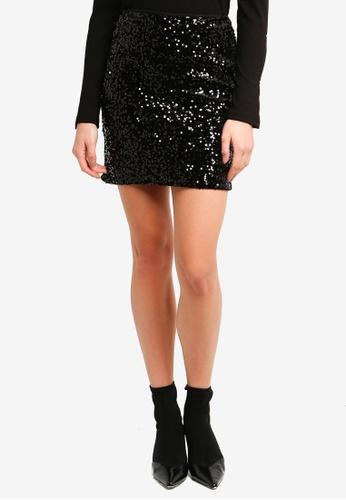 125b9e43f705cb Buy WAREHOUSE Velvet Sequin Mini Skirt Online on ZALORA Singapore