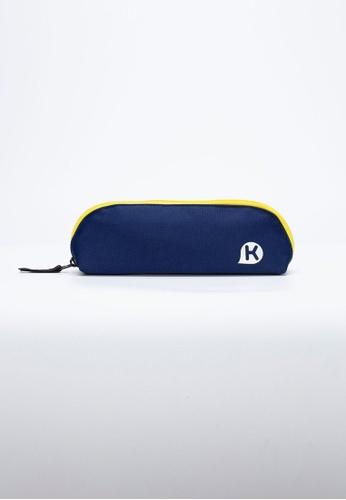 Kags blue KAGS Chester Series Pouch Type Pencil Case - Navy B0B3FKC14CF92EGS_1
