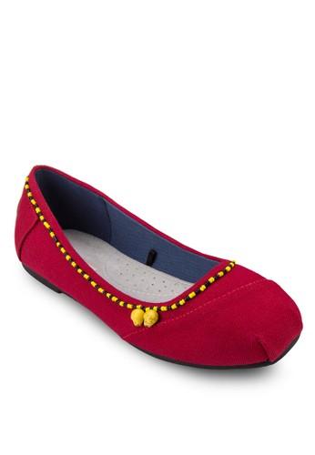 Huiesprit outlet 旺角chol 珠飾芭蕾平底鞋, 女鞋, 鞋