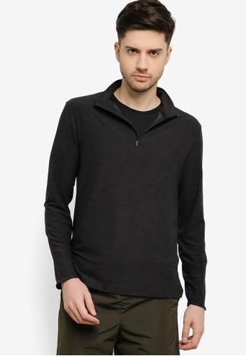 GAP black All Day 1/4 Zip Sweatshirt 9C59AAADD4F7AFGS_1
