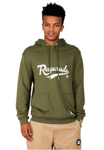 Reoparudo 綠色 RPD 品牌反光簽名連帽衛衣 (軍綠色) 70C19AA28C0C85GS_1