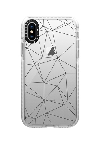 Casetify white Geometric Lines Impact Protective Case for iPhone XS/ iPhone X 46309ACA346BDBGS_1