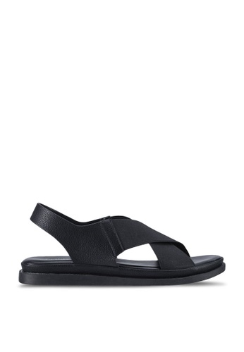 Twenty Two 黑色 Hadassa Criss Cross Slingback Sandals BB5DESH78B259BGS_1