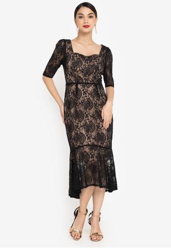 ZALORA OCCASION black Sweetheart Neck Mermaid Dress 7B725AA9E5B81BGS_1