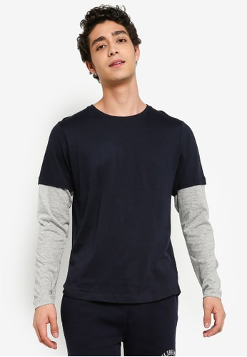 570d51a865 Double Layered Long Sleeves T-Shirt