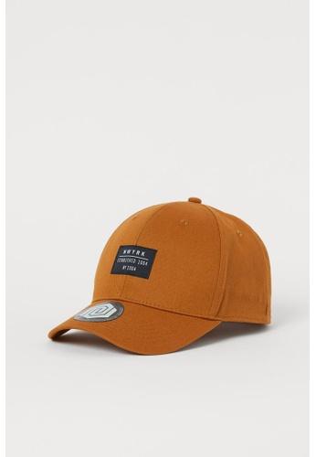 H&M brown Twill Cap 0A2E7KC3F36E63GS_1