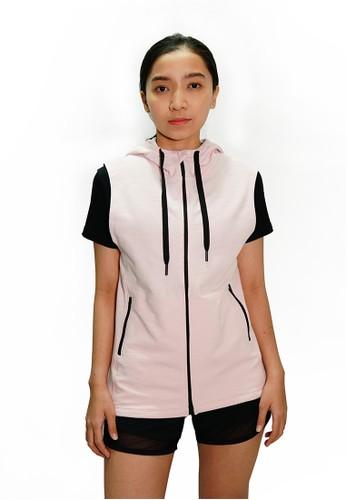 Trijee pink Trijee Women Hoodie Vest - Pink D9FD6AA043AE7FGS_1