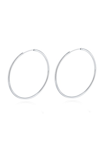 MBLife silver 925 Sterling Silver Polished Endless Hoop Earrings (60mm) 38217ACD90183DGS_1