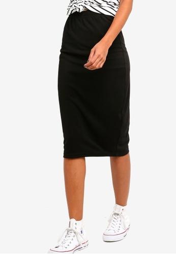 ZALORA BASICS black Basic High Waisted Jersey Skirt A34E7AA5CEA89AGS_1