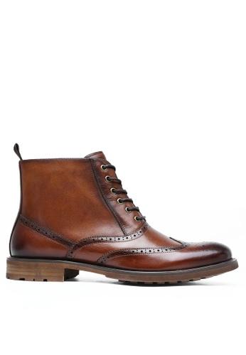 Twenty Eight Shoes Rye Leather Brogue Boot DS816306 13C42SH3FAE1B3GS_1