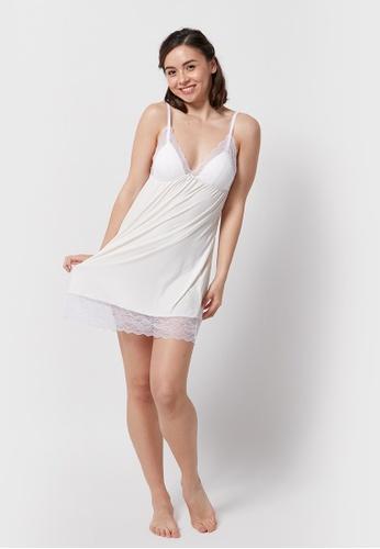 6IXTY8IGHT white DAISY, Slip Dress HW08747 70823AACD71B3AGS_1