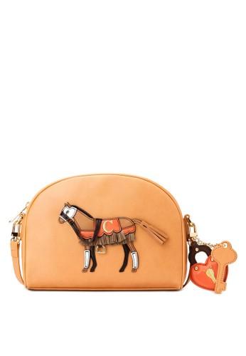 刺繡小馬半salon esprit 香港月型小包, 包, 女裝飾品