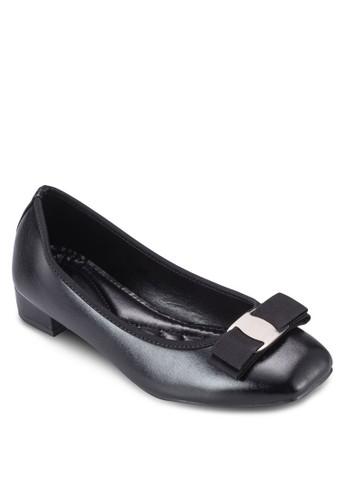 蝴蝶結方頭低esprit macau跟娃娃鞋, 女鞋, 鞋