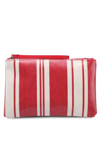 Mango pink Striped Cosmetic Bag 25521AC6E3DDFDGS_1